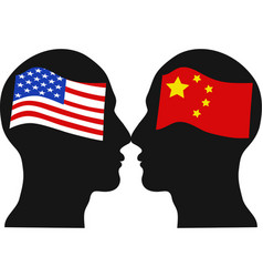 American versus chinese economic war vector