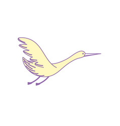 beauty stork animal with wings vector image