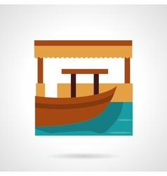Berth flat color icon vector