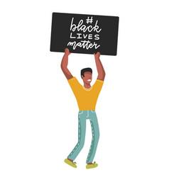 black lives matter lettering slogan stop racismr vector image