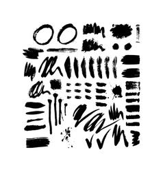 Brush stroke set vector