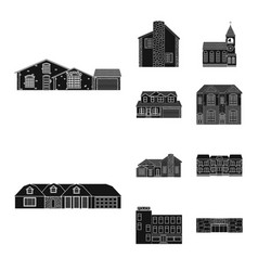Building and front sign vector