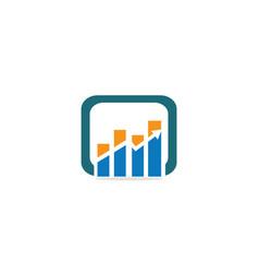 business chart arrow up logo vector image