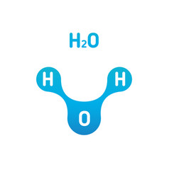 Chemistry model water molecule h2o scientific vector
