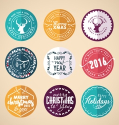 Christmas Design Elements Badges and Labels vector