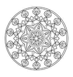 Circle mandala coloring book for adults vector image
