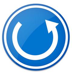 Circular arrow roundabout road sign vector