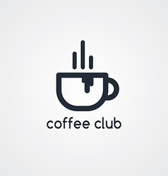 coffee cafe sign logo theme vector image