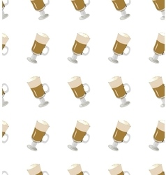coffee latte seamless pattern vector image