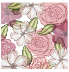 colorful floral pattern with flowers in vector image