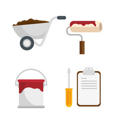 Construction set tools icon vector