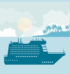 cruise at sea vector image