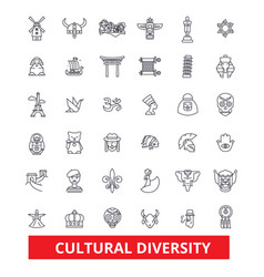 Cultural diversity international enthnic vector