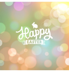 Easter colorful bokeh background vector image