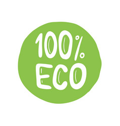 eco bio organic hand drawn doodle elements vector image