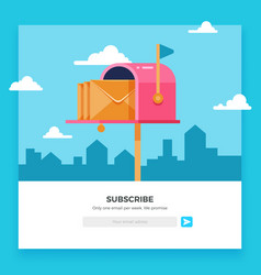 Email subscribe online newsletter template vector