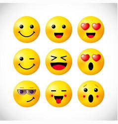 Emoji 3d positive set vector