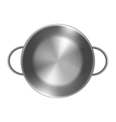 empty metal pan on white background without lid vector image