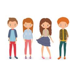 Fashion kids vector