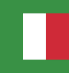 flag of italy in official rate and colors vector image