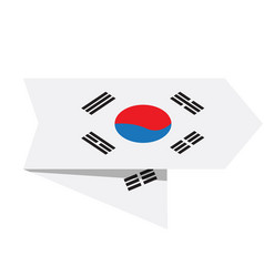 flag of south korea on a label vector image