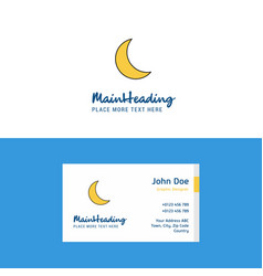 Flat cresent logo and visiting card template vector