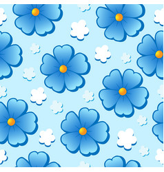 Flowery seamless background 7 vector