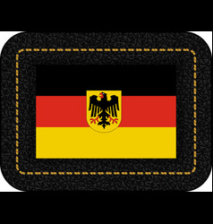 germany flag with coat of arms icon on black vector image