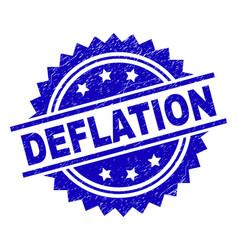 Grunge textured deflation stamp seal vector