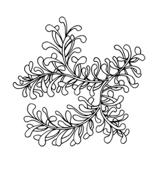 Hand drawn doodle outline magic line art element vector