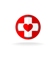 Heart and cross sign vector image