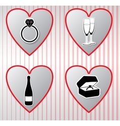 Hearts collection Valentines day vector image