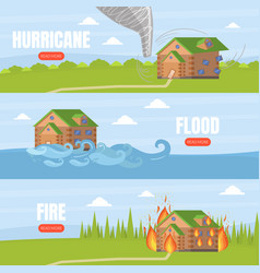 home insurance service landing page template set vector image