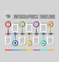 infographic timeline visualization template vector image