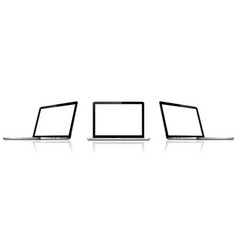 isolated laptops with empty space vector image