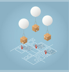 Isometric delivery concept vector