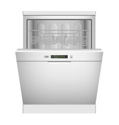 kitchen dishwasher icon realistic style vector image