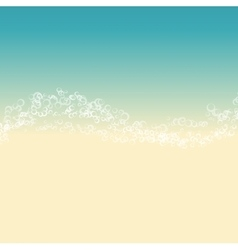 landscape of beach vector image
