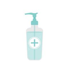 Liquid hand sanitizer gel antiseptic in bottle vector