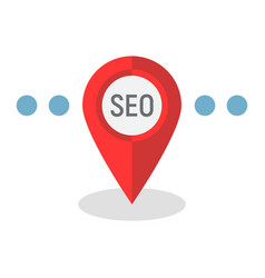 Local seo flat icon seo and development vector