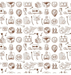 Logistic icons seamless pattern vector image