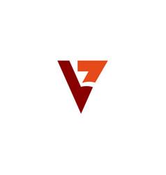 Logotype letter v simple logo template vector