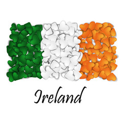 love ireland flag heart glossy with love from vector image