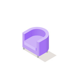 Low poly isometric armchair vector
