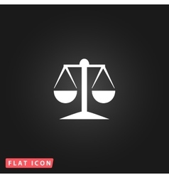 mechanical scales flat icon vector image