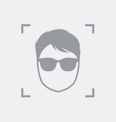 Men face avatar icon vector