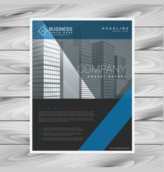 Modern company flyer business template vector