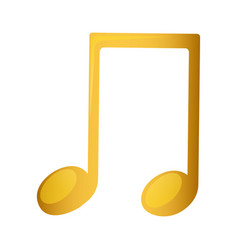 Musical note in golden with background white vector