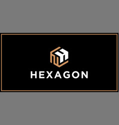 nh hexagon logo design inspiration vector image