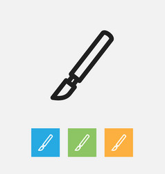 Of tools symbol on scalpel vector